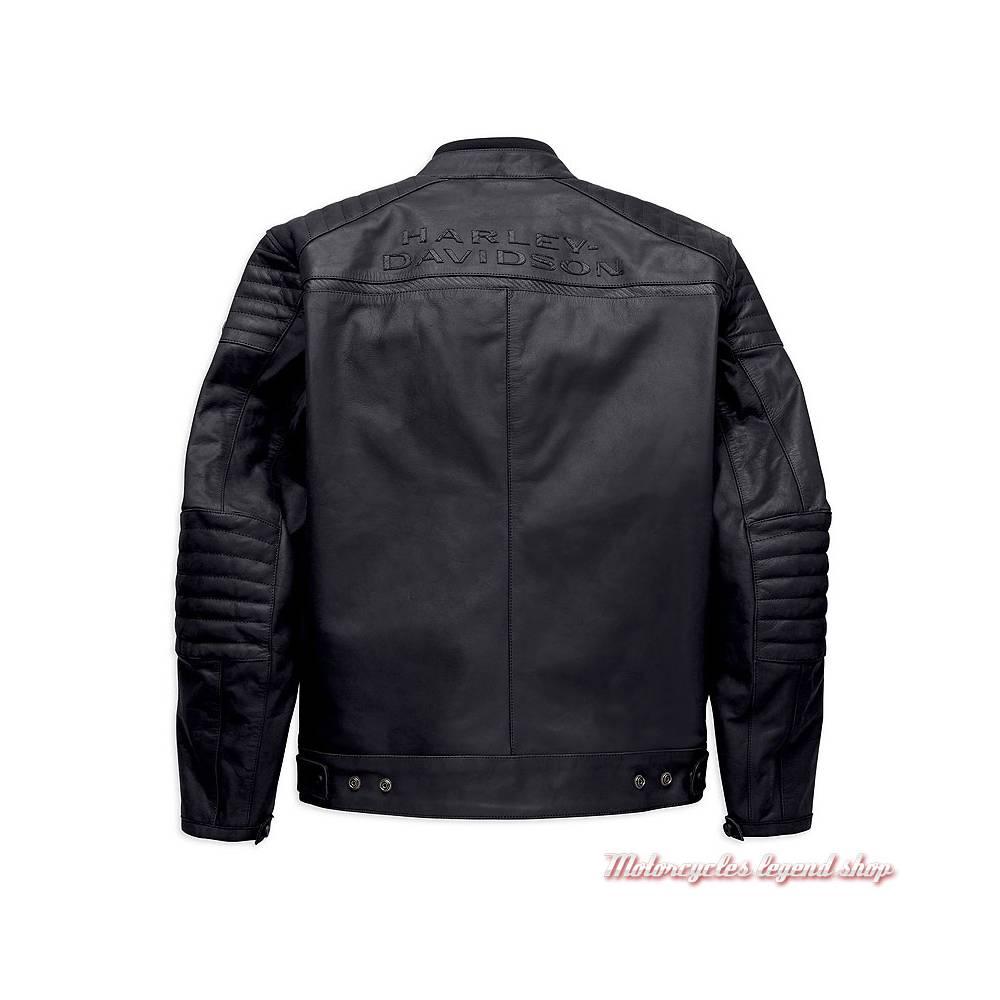 Blouson cuir Wrayburn Harley-Davidson homme, noir, homologué, H-D Moto, dos, 97019-19EM