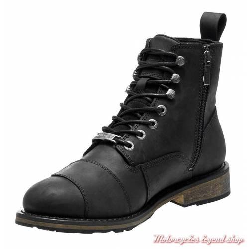 Chaussures Clancy Harley-Davidson homme, cuir noir, waterproof, homologuées, D97044-2