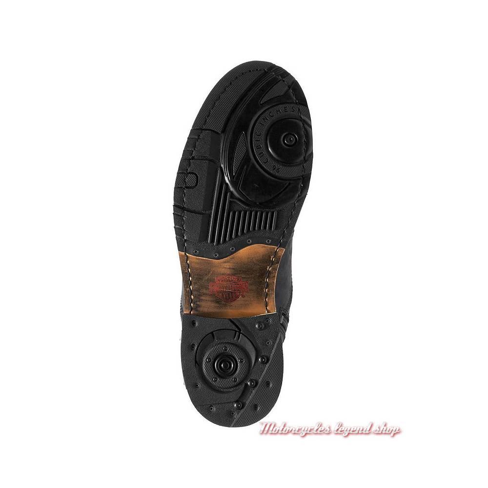 Chaussures Clancy Harley-Davidson homme, cuir noir, waterproof, homologuées, semelle, D97044
