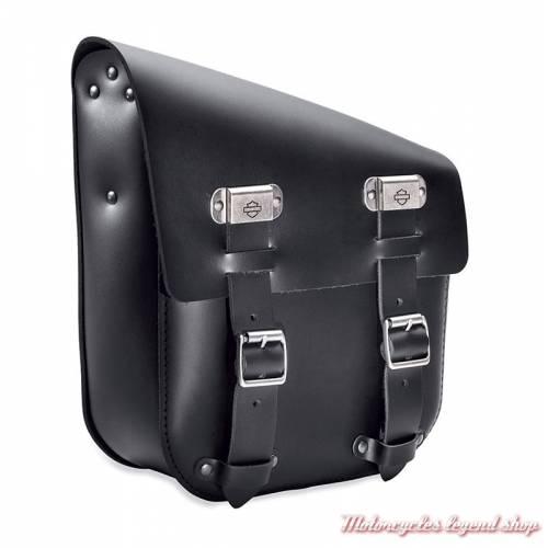 Sac de bras oscillant d'un seul côté, Harley-Davidson, cuir noir, pour Softail, 90201567