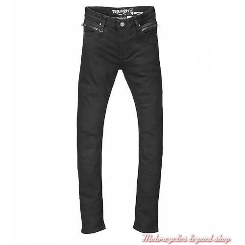 Jeans skinny Riding Triumph femme, noir, homologué, protections, MDJS17120