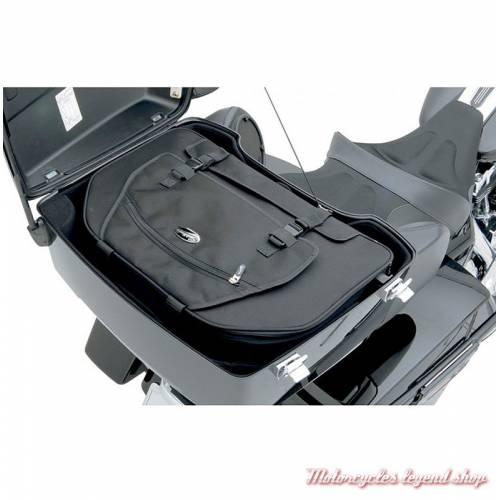 Sac pour porte-bagages Tour Pak Saddlemen, toile noire, doublé, 3516-0121