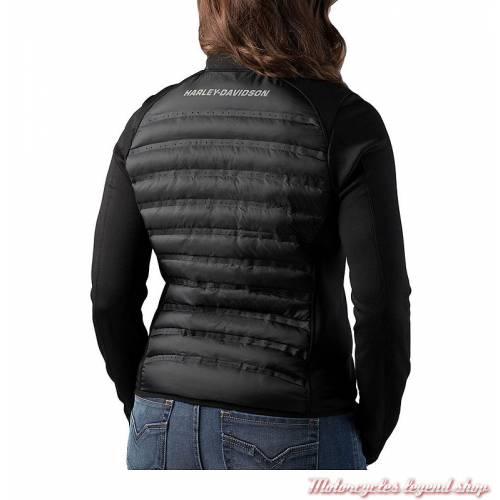 Veste FXRG Harley-Davidson femme, Isolation 3M, noir, technique, chaude, légère, dos, 98269-19VW