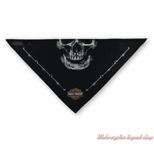 Bandana Deadly Jaw Harley-Davidson homme, skull, polaire, 3 en 1, noir, gris, BAC91080