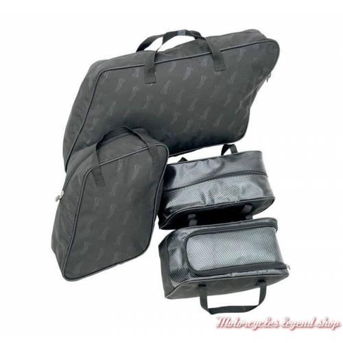Kit de sacs pour sacoches FLD Switch Back Saddlemen, toile noir, 3501-0758
