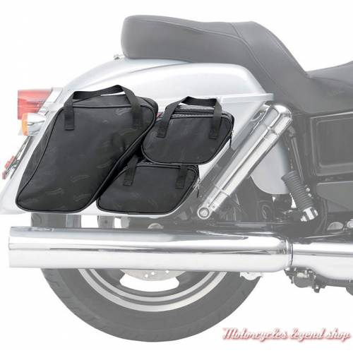 Kit de sacs pour sacoches FLD Switch Back Saddlemen, toile noir, 3501-0758-2