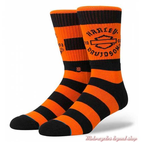 Chaussettes Sprint Striped Harley-Davidson homme, orange, noir, M556A18SPR