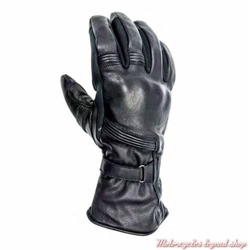 Gants cuir Titanium hiver Helstons homme, manchette, noir, homologués CE