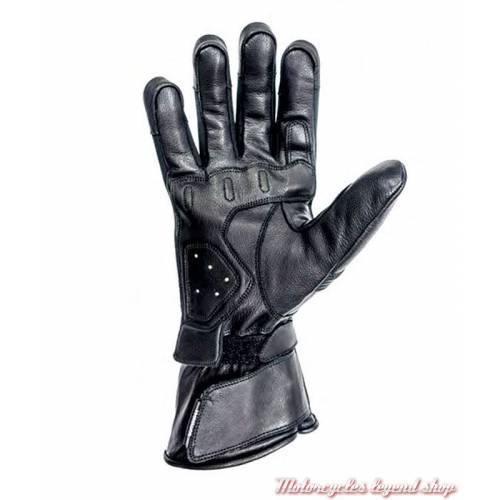 Gants cuir Titanium hiver Helstons homme, manchette, noir, homologués CE, paume