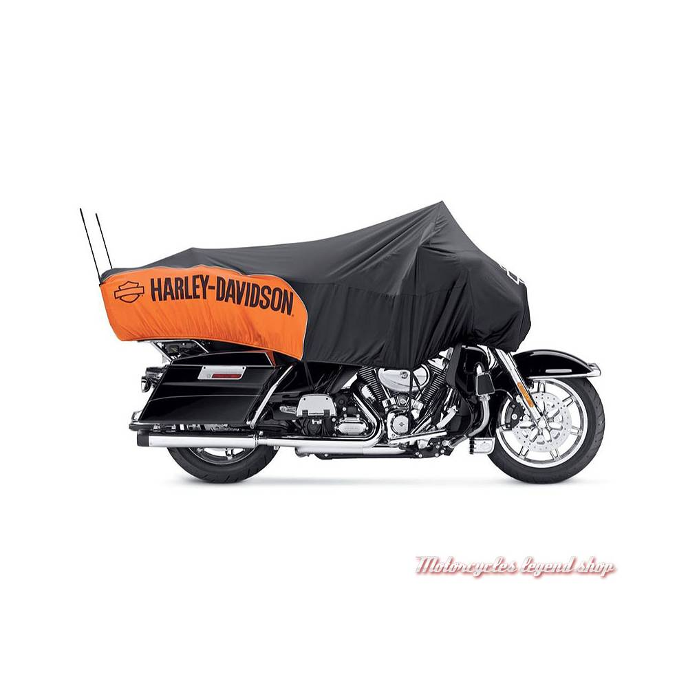 Housse Oasis Day Cover Touring, noir, orange, Harley-Davidson 93100028