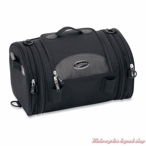 Sac Roll Bag Deluxe Saddlemen, BAG R1300LXE, 24 litres, extensible, tissu noir, simili cuir; 3515-0075
