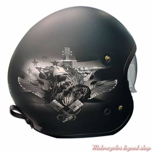 Casque J.O Johnny Hallyday Shoei, noir mat, initiales et signature Johnny Hallyday