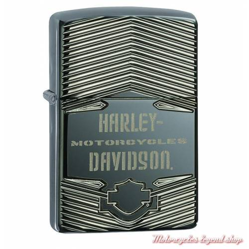 Zippo Harley-Davidson chrome strié, made USA, 60002191