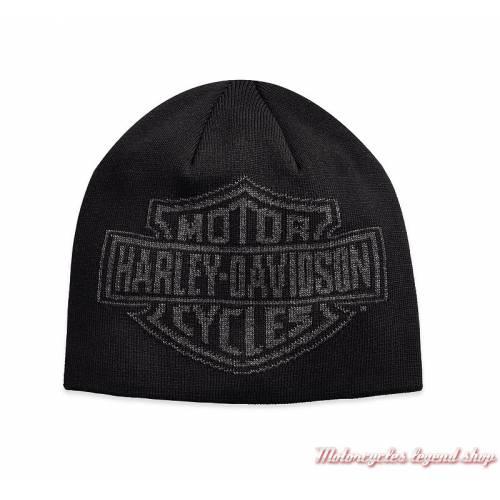 Bonnet Bar & Shield Harley-Davidson homme, noir, tricot, coton, acrylique, 97811-19VM
