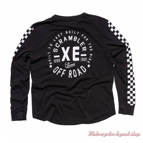 Tee-shirt Banks Triumph Scrambler homme, manches longues, noir, coton, vintage, dos, MTLA18209