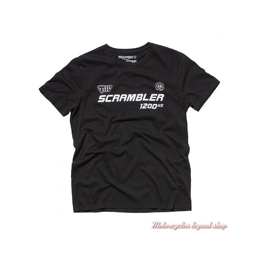 Tee-shirt Bickers Triumph Scrambler homme, manches courtes, noir, coton, MTSA18212