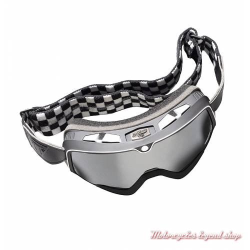 Masque Barstow Scrambler Triumph, noir, damier, vintage, MGOA18221