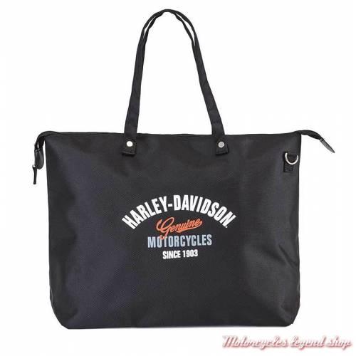Sac cabas Genuine Harley-Davidson, de voyage, pliable, noir, 99203-black
