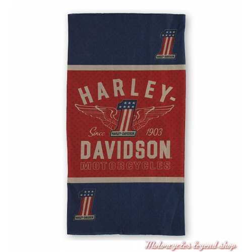 Tube RWB One Harley-Davidson, polyester, bleu, rouge, beige, MHW33893