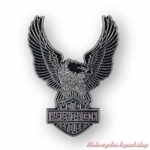 Sticker Upwing Eagle Harley-Davidson, relief, plastique chrome, DC328801