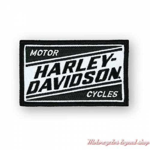 Patch Ignition Harley-Davidson, brodé, noir et blanc, EM334881