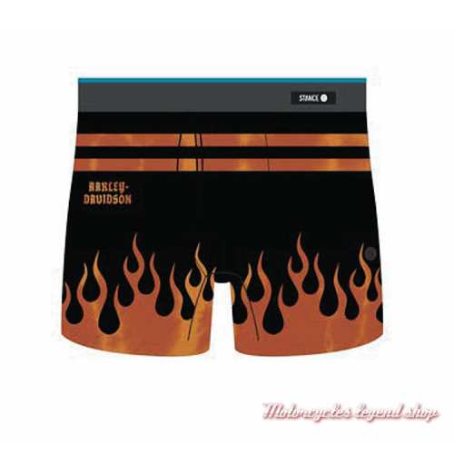 Boxer Flames Harley-Davidson, noir, orange, M803A19HAS