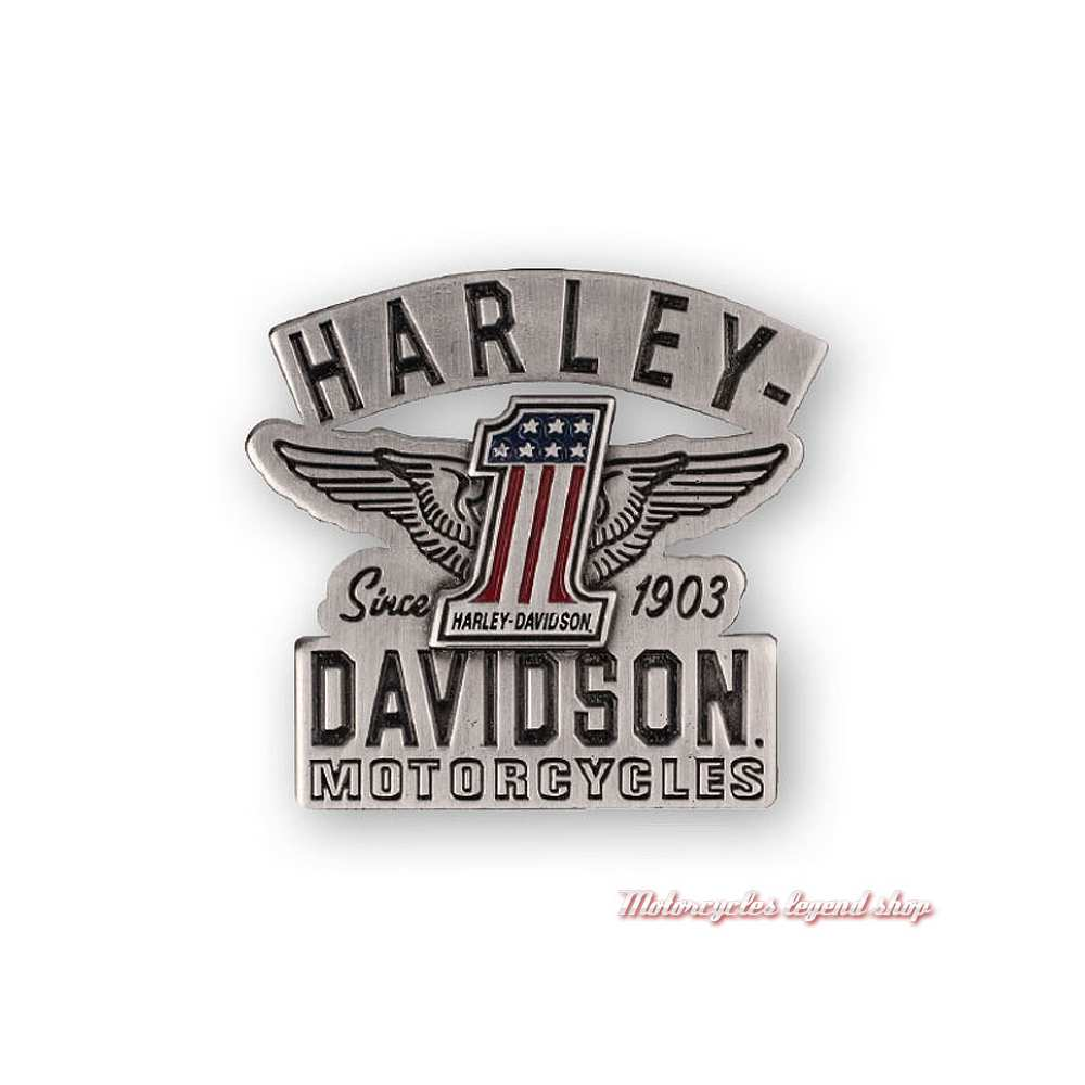 Pin's RWB Harley-Davidson, nickel brossé, P338063