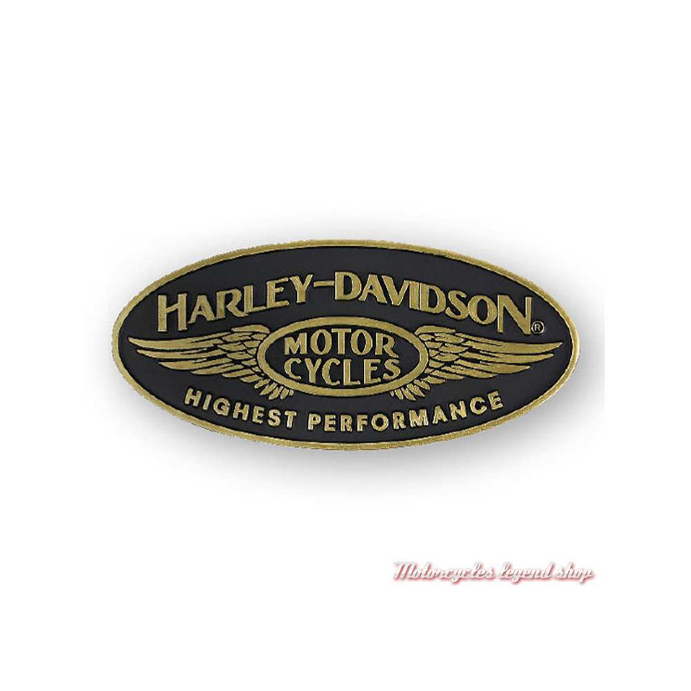 Pin's Highest Performance Harley-Davidson, métal cuivré, P336773