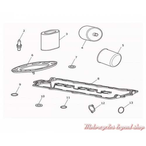 Kit de révision Triumph Rocket III, T3990013