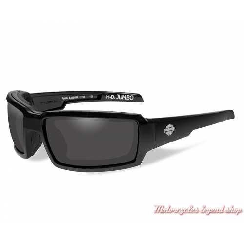 Lunettes solaires Jumbo Harley-Davidson, homme, fumé gris, cavité intérieur amovible, HDJUM01