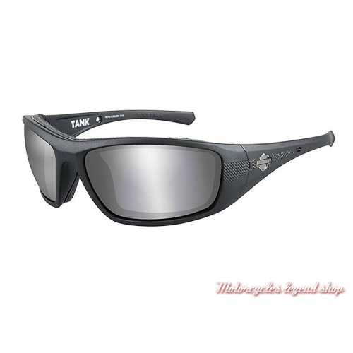 Lunettes solaires Tank Harley-Davidson, fumé gris, cavité intérieur amovible, HDTAN02