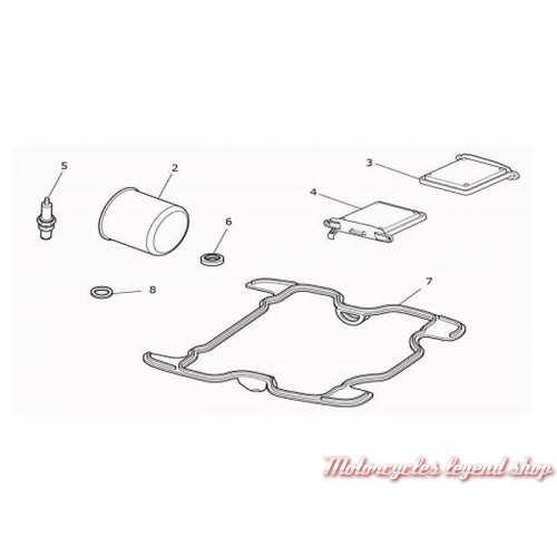 Kit de révision Triumph pour Bobber, Bonneville Speedmaster, T3990166