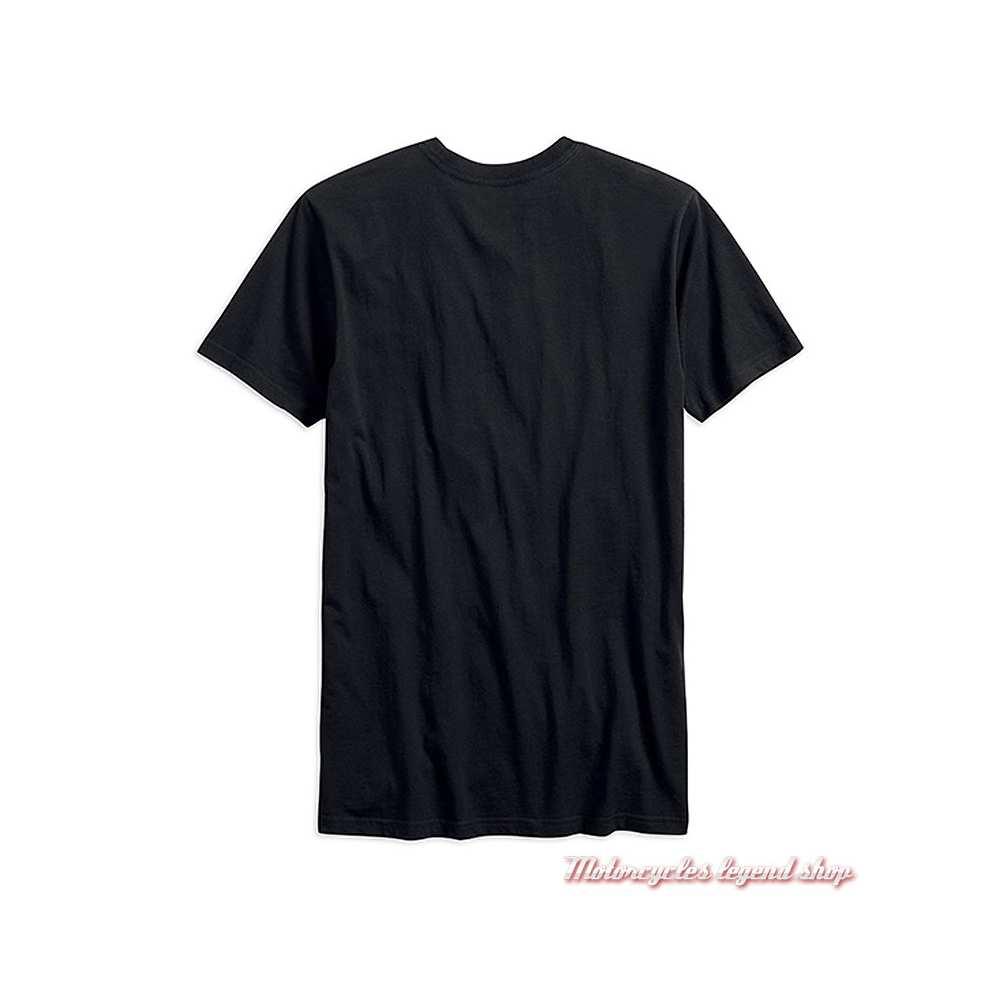 Tee-shirt One Retro Harley-Davidson homme, manches courtes, noir, coton, vintage, dos, 99215-19VM