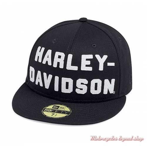 Casquette Letter Harley-Davidson homme, 59FIFTY, noir, 99467-19VM