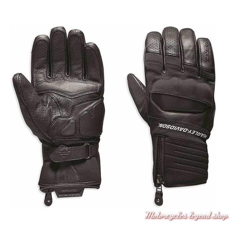 Gants Dual Chamber Harley-Davidson homme, FXRG, noir, cuir, textile, 98273-19EM