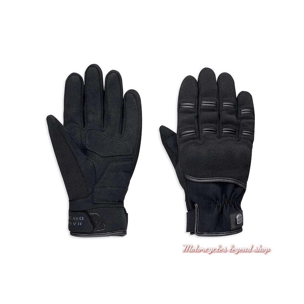 Gants Sarona Harley-Davidson homme, néoprène, spandex, noir, 98383-19EM