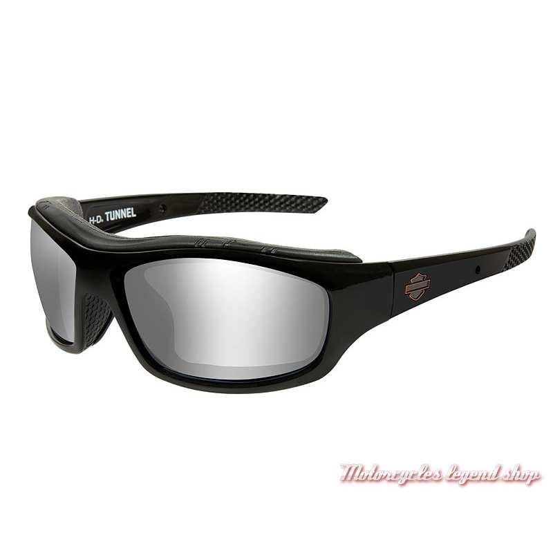 Lunettes solaires Tunnel Harley-Davidson, , fumé gris flash, cavité intérieur amovible click air, HDTNL01