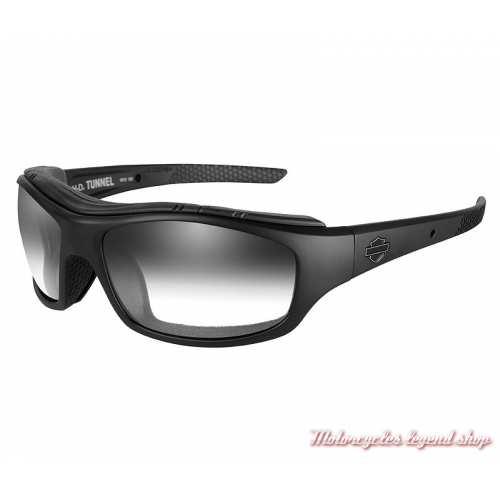 Lunettes jour/nuit Tunnel Harley-Davidson, fumé gris, cavité intérieur amovible click air, HDTNL05