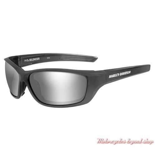 Lunettes solaires Silencer Harley-Davidson, gun metal, verre gris silver, HASIL02