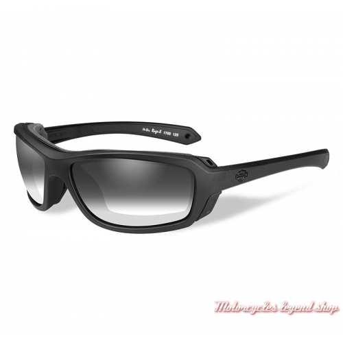 Lunettes jour/nuit Rage-X Harley-Davidson, noir mat, cavité intérieur amovible, HDRGE05