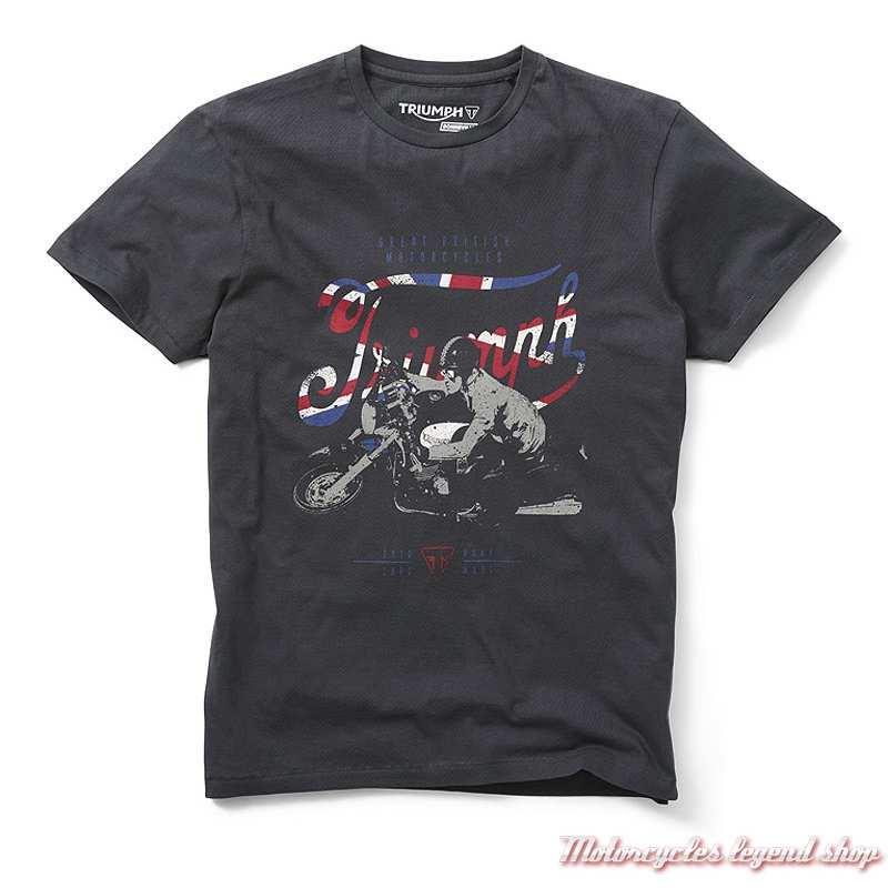 Tee-shirt Buckley Triumph homme, noir, Bonneville, manches courtes, coton, MTSS19409