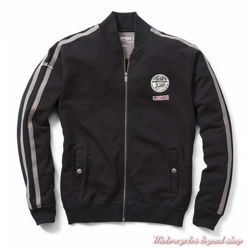 Sweatshirt Rocky Triumph homme, zippé, noir, Bud Ekins, coton, MSWS19100