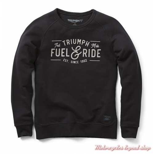 Sweatshirt Rosalie Triumph femme, noir, col rond, coton, MSWS19306