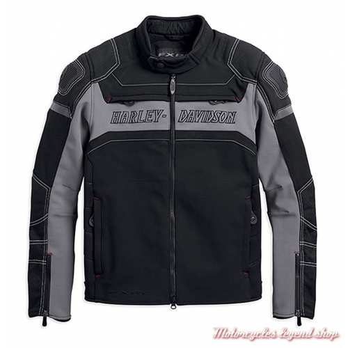 Blouson textile FXRG Dynamic Harley-Davidson homme, cordura, coolcore, noir, gris, 98298-19EM