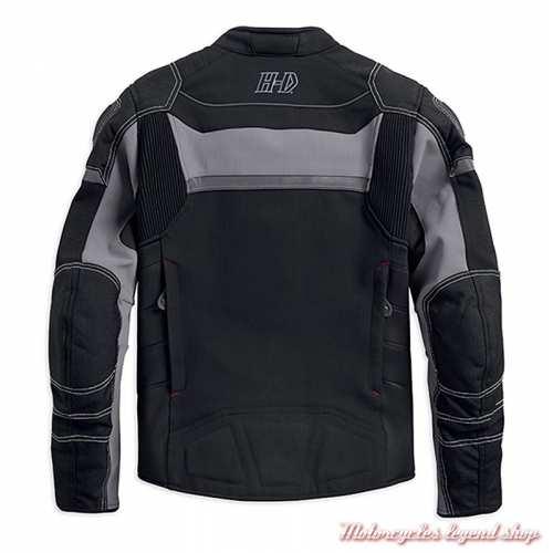 Blouson textile FXRG Dynamic Harley-Davidson homme, cordura, coolcore, noir, gris, dos, 98298-19EM