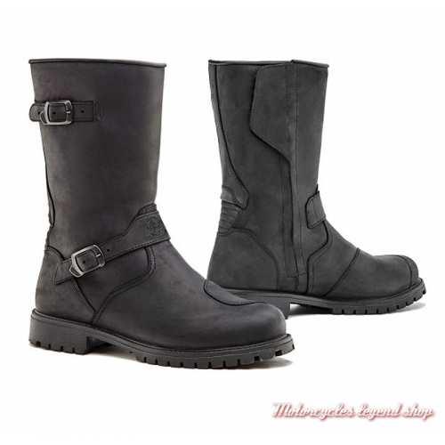 Bottes Eagle Forma homme, cuir noir, waterproof,