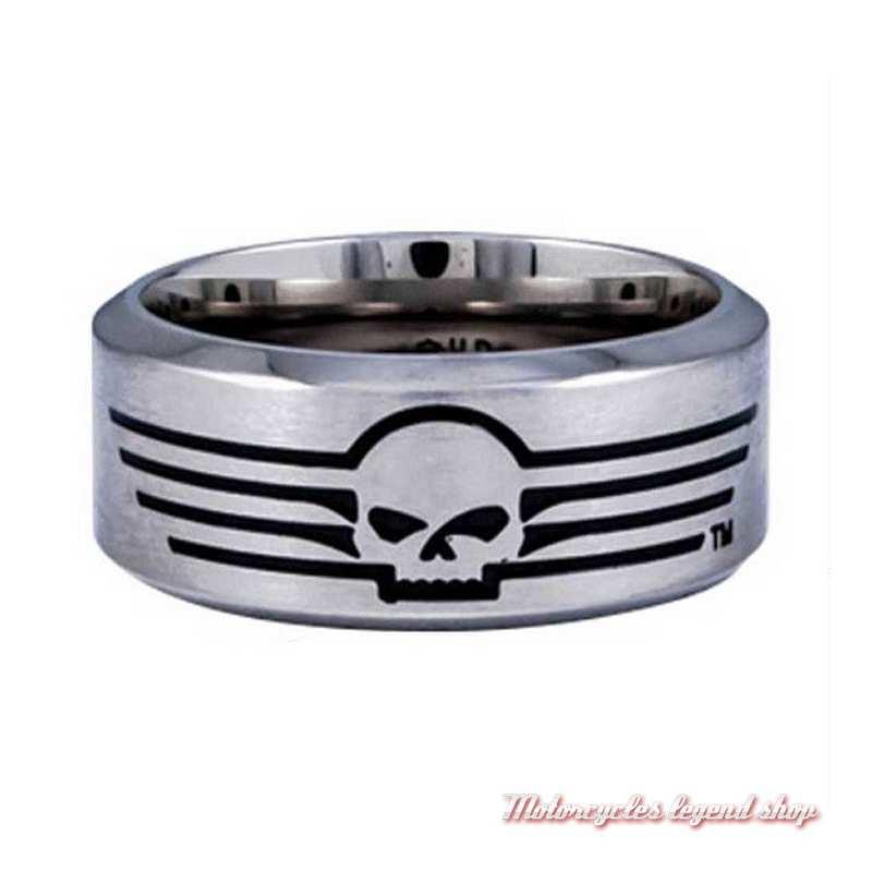 Bague acier Skull Harley-Davidson homme HSR0027