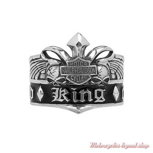 Bague argent King of the road Harley-Davidson homme HDR0204
