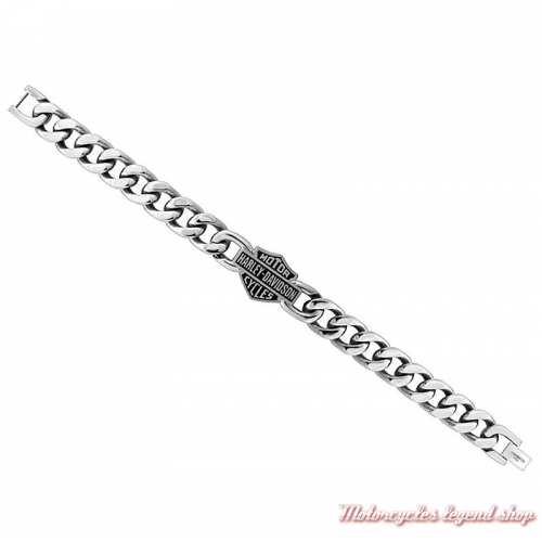 Bracelet acier chaine Harley-Davidson homme HSB0015