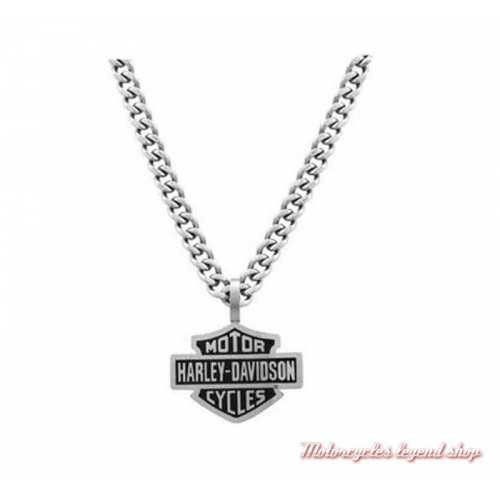 Collier acier Bar & Shield Harley-Davidson homme HSN0021